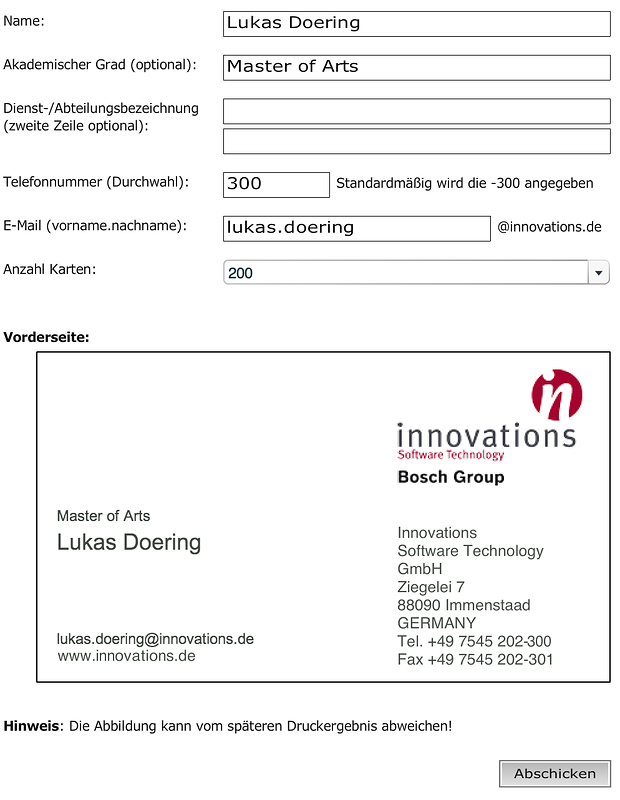 RIA FOR ORDERING BUSINESS CARDS - LUKAS DOERING - interactive media